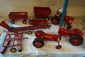 Lot Tractor Plow ERTL Farmall International Red Toy Implements Plow McCormick