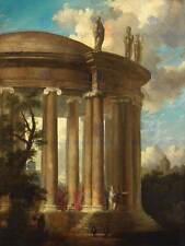 Dipinto paesaggio storico ROMA PANINI Tempio Diana art print poster hp1240