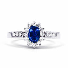 Sapphire Not Enhanced Oval Fine Gemstone Rings