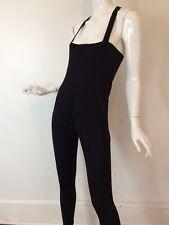 Vintage 1960's Capezio Black One Piece Dance Bodysuit Unitard Jumper Small