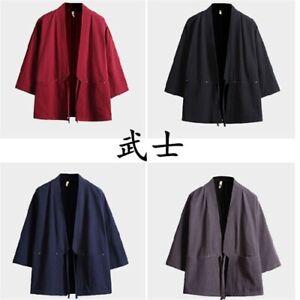 Kimono Samurai Costume Asian Traditioanl Japanese Clothe Yukata Cardigan Jacket