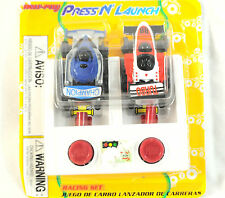 Vintage 90's New-Ray Press 'N Launch Car Set