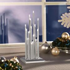 LED Lichterbogen Stimmungsleuchte Licht Adventslicht Weihnachtsleuchter Silber