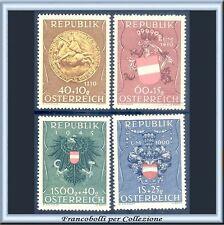 1949 Österreich Austria Pro Prigionieri Guerra Stemmi n 773/776 Nuovi Integri **