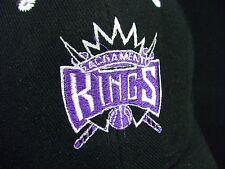 NBA Sacramento Kings Black Baseball Hat Cap Adjustable Strap