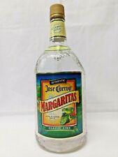 Collectible Jose Cuervo Margarita 1.75 Liter Handled Textured Glass Empty Bottle