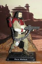 "Star Wars Rogue One CUSTOM Baze Malbus 3.75"" Figure, More Articulate! 2 weeks"