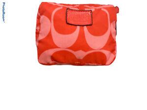 Coach Poppy logo Print Folding Tote folds into  Carry Bag  shades of pink RARE!