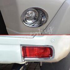 Front + Rear Fog Light Cover For Toyota Prado FJ150 LC150 2014+ Bumper Reflector