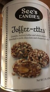 See's Candies Toffee-ettes  16oz Can