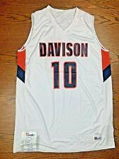 "NUOVO CON ETICHETTE MEN'S 2012 Speedline ""Davidson"" BASKET JERSEY #10 Sz L ARANCIO BLU NUOVO"