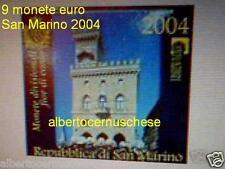 2004 SAN MARINO 9 monete 8,88 EURO BU Saint Marin divisionale ufficiale