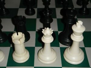 """USCF Tournament Chess Pieces Bag Board Weighted 3.8"""" King 4 Queens 34 Pc Zurich"""