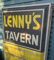 Lenny's Tavern 1970s HUGE Advertising Sign Bar 6'x4' Plastic Metal Case VTG Rare