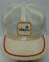 RARE Vintage 1980s VLASIC ADVERTISING PATCH ALL MESH TRUCKER HAT CAP MADE IN USA