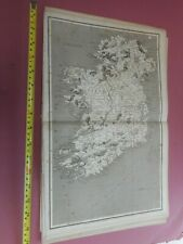 100% ORIGINAL LARGE IRELAND MAP  BY RUSSELL ARROWSMITH  C1808 VGC