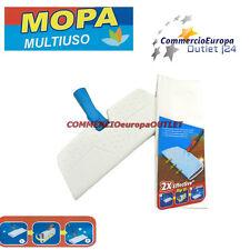 scopa catturapolvere multiuso panni elettrostatici parquet pavimenti doppia azio