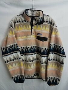 Patagonia Beige Patterned Synchilla Fleece Pullover Men's L
