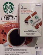 30 BOXES=390 PACKS STARBUCKS VIA INSTANT COFFEE MED ROAST COLUMBIA BEST 02/16/20