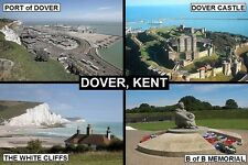 SOUVENIR FRIDGE MAGNET of DOVER ENGLAND