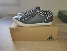 Baskets LE COQ SPORTIF DEAUVILLE PLUS / HOUNDSTOOTH CHARCOAL/LEATHER Taille.38