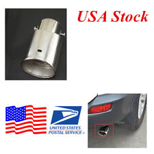 1x Round Chrome Stainless Steel Car Exhaust Muffler Tail Pipe Tip (USA Stock )