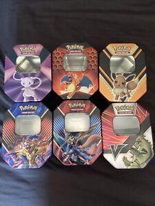Pokemon 2x Empty Tins - 2 RANDOM EMPTY TINS FOR CARD STORAGE OR DISPLAY