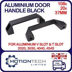 108x20x37mm Aluminium Door Handle Black for Aluminium Extrusion 2020 VSlot TSlot