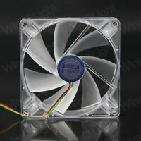 DC 12V 4PIN 120MM 120X25MM Transparent Automatic Regulate Speed Cooling Fan