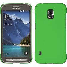 Hardcase Samsung Galaxy S5 Active rubberized green Cover Case