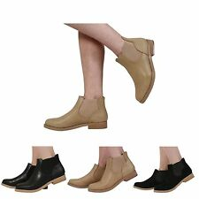 Ankle Boots Synthetic Leather Pull On Shoes for Women