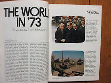 Jan-1974 TV Guide (HOW YOU SAW THE WORLD ON TELEVISION IN 1973/PRINTED IN CANADA