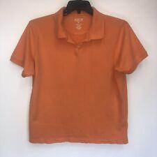 Austin Clothing Co. Cotton Blend XL Short Sleeve Orange Polo