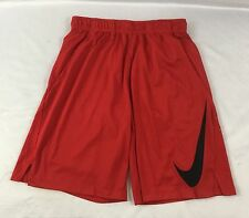 Nike MEN'S Athletic Dri-Fit Mesh Basketball Shorts 871720 Red Black Size L
