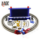 10 Row An10 Engine Transmission Oil Cooler W Thermostat Oil Filter Adapter Kit