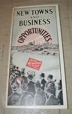 1913 Milwaukee Road Railroad Brochure Town Info Business with Pull- out map