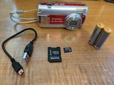 Canon PowerShot A470 7.1MP Digital Camera - Red