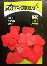 FOX RAGE PREDATOR RED BAIT FINS - QTY 25 - FISHING ACCESSORY