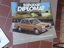 1983 Dodge Diplomat Brochure - America's Driving Machine!