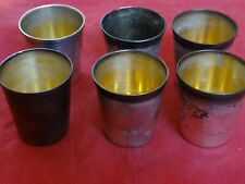 Fine Set Of 6 Antique Gorham Durgin Sterling Silver Julep Cups #29