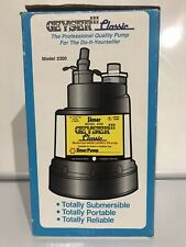 Simer 2300-04 1/4 HP Portable/Submersible Utility Pump, Geyser Classic, 1320 GPH