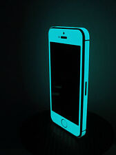 iPhone 5  * Green Blue * Glow in the dark sticker - Front & Edge for iPhone 5
