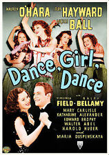 DANCE, GIRL, DANCE/Lucille Ball,Maureen O'Hara/NEW DVD/BUY ANY 4 ITEMS SHIP FREE