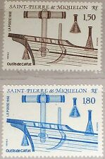 ST. PIERRE MIQUELON SPM 1992 636-37 578-79 Ship Building Tools Werkzeuge Schiffe