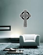"Celtic Cross Irish Wall Decal Large Vinyl Sticker 25"" x 16"""