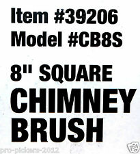 """Majestic Pyromaster 39206 / CB8S Square 8"""" Chimney Sweep Cleaning Brush 3/8"""" NPT"""