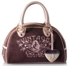 JUICY COUTURE Vintage Velour Bowler Purple Satchel Handbag Bag