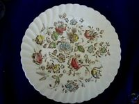 JOHNSON BROTHERS Staffordshire Dk.Red/Blue/Yellow Floral Plate - Made in England