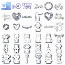 Animals Heart Words Cutting Dies Metal Stencil for DIY Scrapbooking Paper Craft