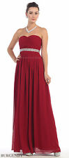 SEMI FORMAL EVENING GOWN BRIDESMAIDS DRESSES LACE UP BACK STRAPLESS & PLUS SIZE